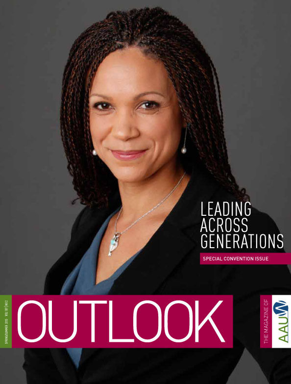 Melissa Harris-Perry on the front cover of Outlook Magazine smiling.