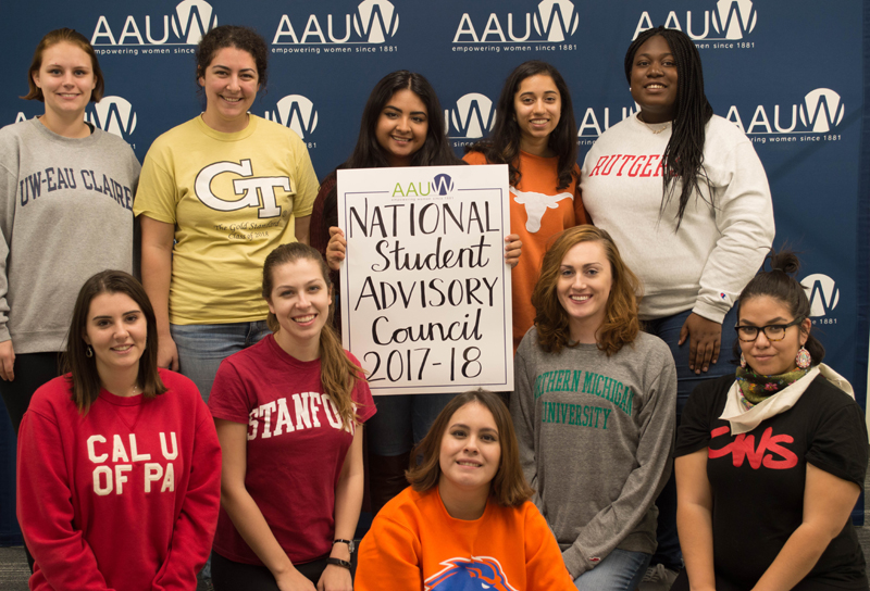 The 2017–18 AAUW National Student Advisory Council