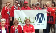 AAUW members visited state capitols to urge their representatives to support paycheck fairness.