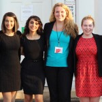 Administrator Phyllis Floro accompanied these seven students from SUNY Buffalo (above) to the conference.