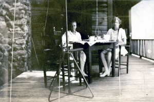 Marion Talbot at her New Hampshire home with a University of Chicago student, summer 1928. AAUW archives