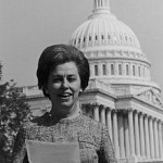 Rep. Martha Griffiths stands in front of the Capitol.