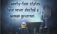 Twenty-four states have never elected a woman governor.