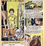 A comic strip telling the story of Ellen Swallow Richards