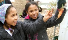 Girls in the ECO Girls program visit a local farmers market.