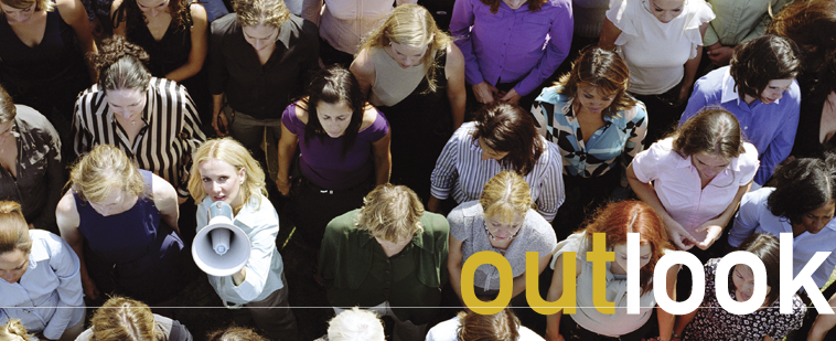 AAUW Outlook Spring/Summer 2015 cover: Activism Everywhere