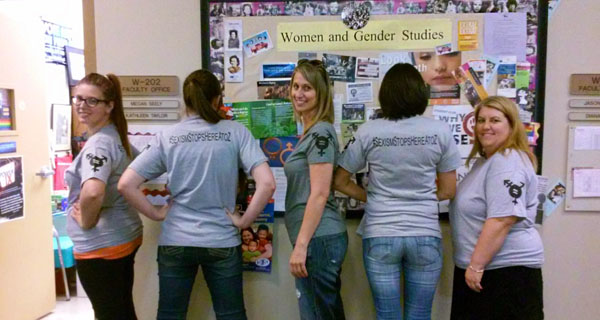 2014-15 CAP team members from Sierra College sport their project's T-shirts.