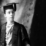 Marion Talbot pictured in an academic gap and gown