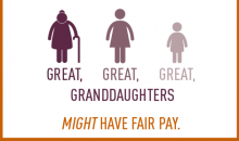 at this rate your great, great, great granddaughters might have fair pay
