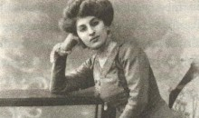 black and white photo of woman