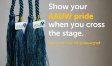 AAUW graduate cords. Buy them as gifts or buy them for yourself.