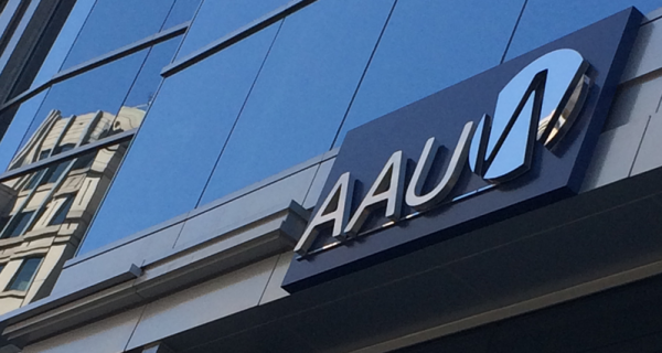 AAUW 1310 L Street headquarters with logo