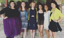 Purdue University AAUW C/U Rep and AAUW Student Organization Advisor, Mel Gruver, with members of AAUW at Purdue.