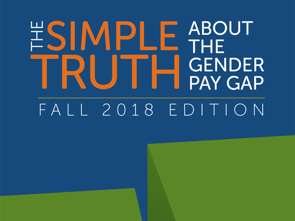 cover of AAUW research report 'The Simple Truth about the Gender Pay Gap