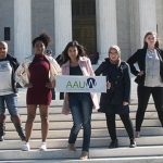 2016-2017 AAUW Student Advisory Council on the steps of the U.S. Supreme Court.