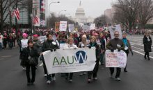 AAUW Board Chair Patricia Fae Ho (far left) led hundreds of AAUW members in AAUW's very own delegation. Copyright David Hathcox for AAUW