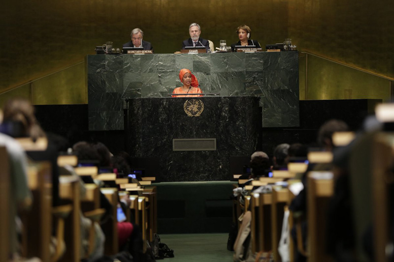 UN Women Executive Director Phumzile Mlambo-Ngcuka opened the 61st UN Commission on the Status of Women.