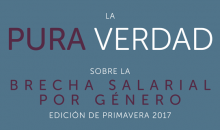 The Simple Truth about the Gender Pay Gap en espanol research report cover Spring 2017