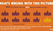 89% of campuses disclosed zero reported incidents of rape. What's wrong with this picture.