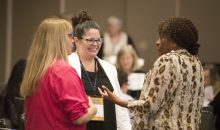 2017 aauw convention members talking
