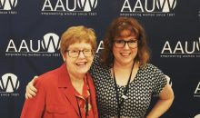 AAUW members Barbara Price and her daughter Melissa Young.