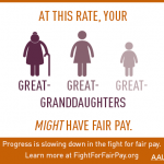 Progress is slowing own in the fight for fair pay.