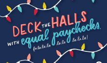 Feminist holiday songs shareable: Deck the halls with equal paychecks fa la la la la la la la la!