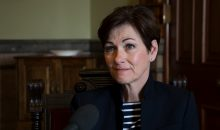 Lt. Governor Kim Reynolds speaks with Iowa Public Radio's Morning Edition host Clay Masters about her transition to be the next governor. 5/2/2017 Photo by John Pemble, https://flic.kr/p/UW4rQT