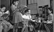 Reading lesson in a Negro elementary school, Washington, D.C., 1942 (Library of Congress)