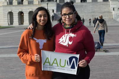 NCCWSL Students standing outside the U.S. Capitol