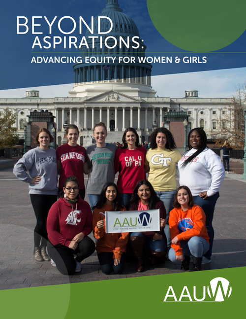 Beyond Aspirations: Advancing Equity for Women and Girls - Cover image for AAUW's 2018 Strategic Plan