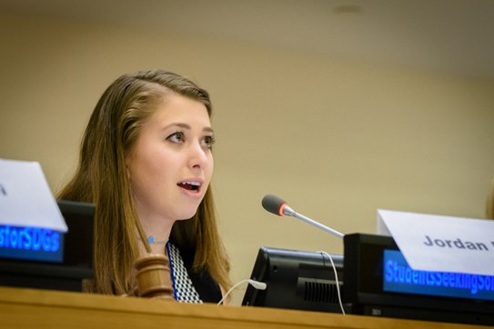 AAUW United Nations Youth Representative Jordan Davis is a student at Lehigh University pursuing a double major in international relations and Spanish.