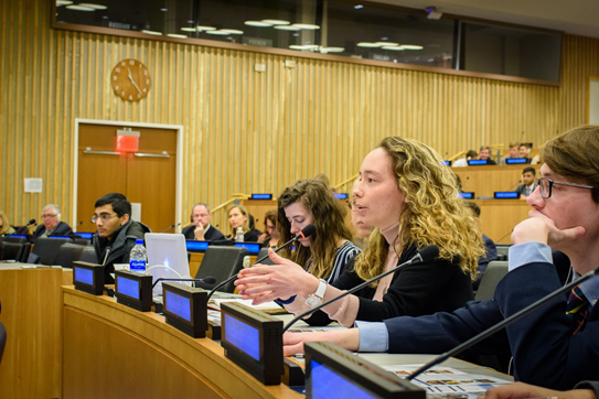 Raina Mckoen, AAUW United Nations Youth Representative, is a student at Lehigh University pursuing studies in international relations and French.