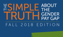 The Simple Truth About the Gender Pay Gap research report cover (fall 2018)