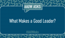 AAUW members' ideas on leadership